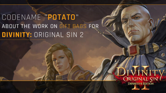 "Codename ""Potato"" – about Divinity: Original Sin 2 Gift Bags for Larian Studios"